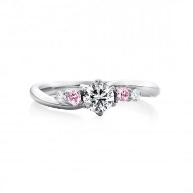 婚約指輪 KA19ピンクダイヤ