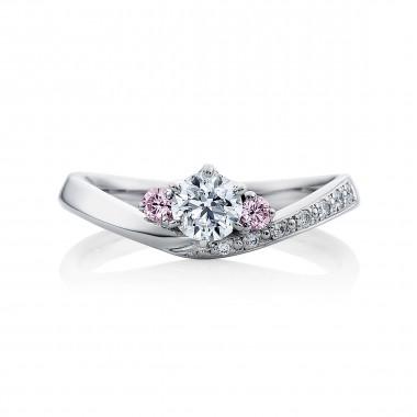 婚約指輪 ka18ピンクダイヤ