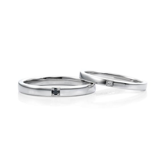 結婚指輪ラベンダー1石