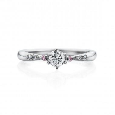 婚約指輪 T6ピンクダイヤ