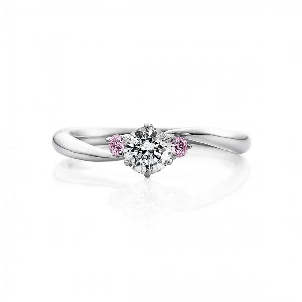 婚約指輪 美18ピンクダイヤ