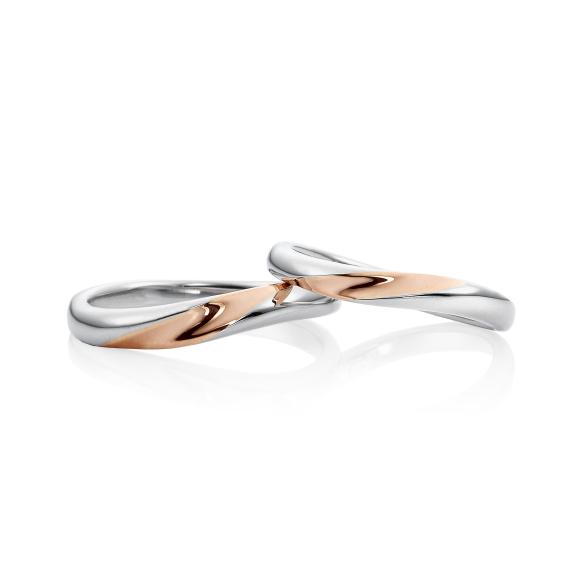結婚指輪スノー1コンビ