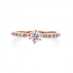 婚約指輪 T8ピンクゴールド