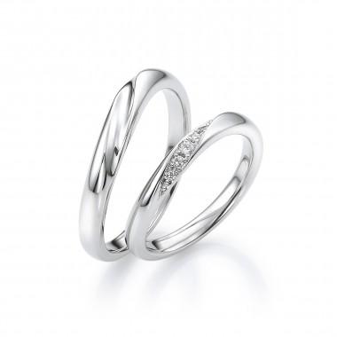結婚指輪スノー1
