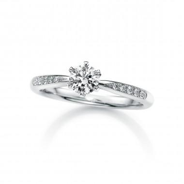 婚約指輪ホワイトローズ